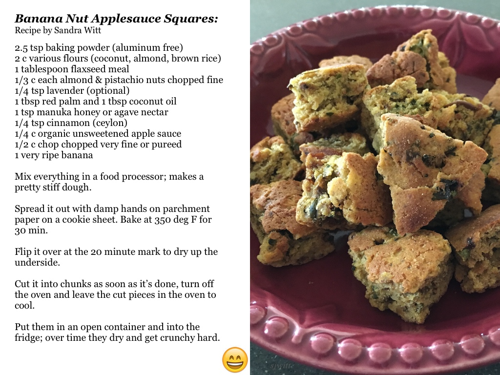 Banana Nut Applesauce Sq