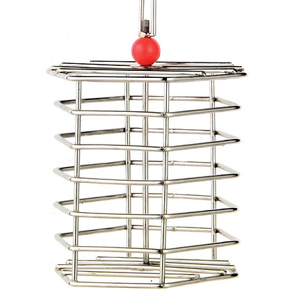 """Stainless Steel Baffle Cage - Sm 12"""" x4"""""""
