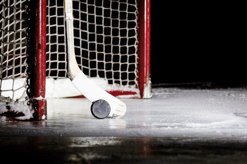 net, puck, stick, hockey, ice, dramatic