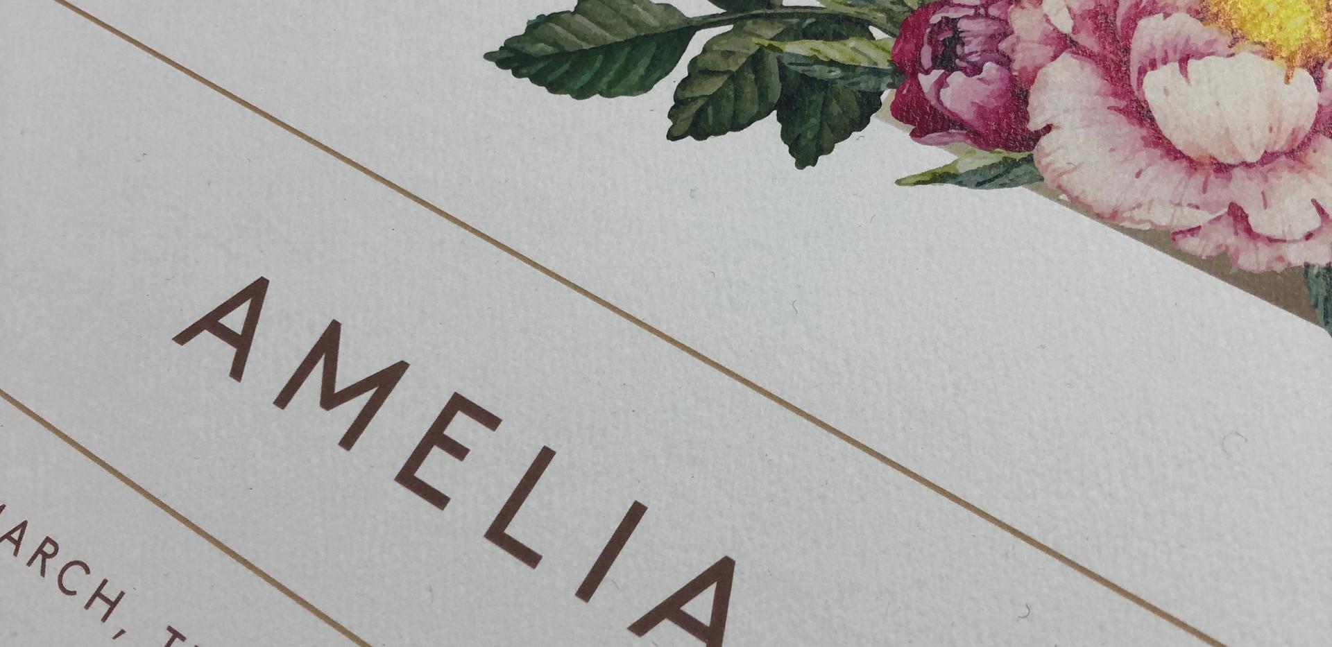 Name Print - Floral Detail