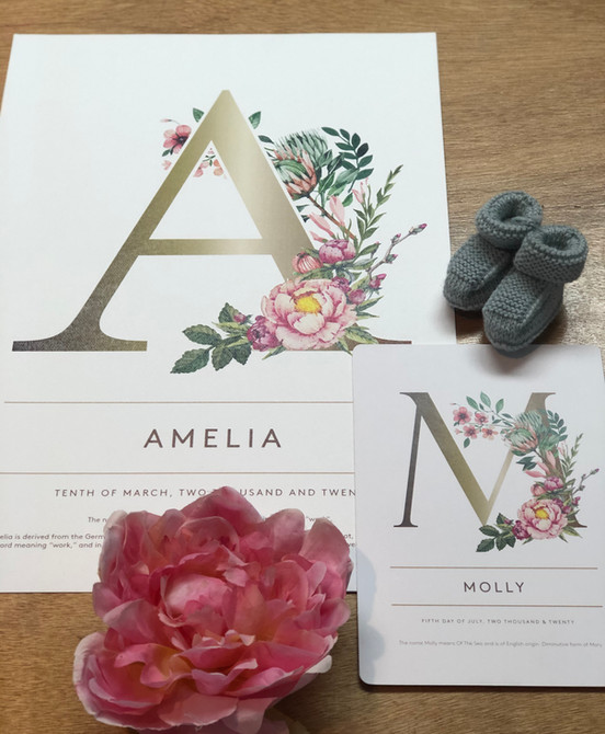 Name Print - availiable in both A3 and A5