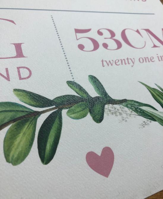 Birth Accouncement Print - detail