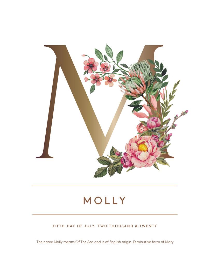 Name Print - Floral
