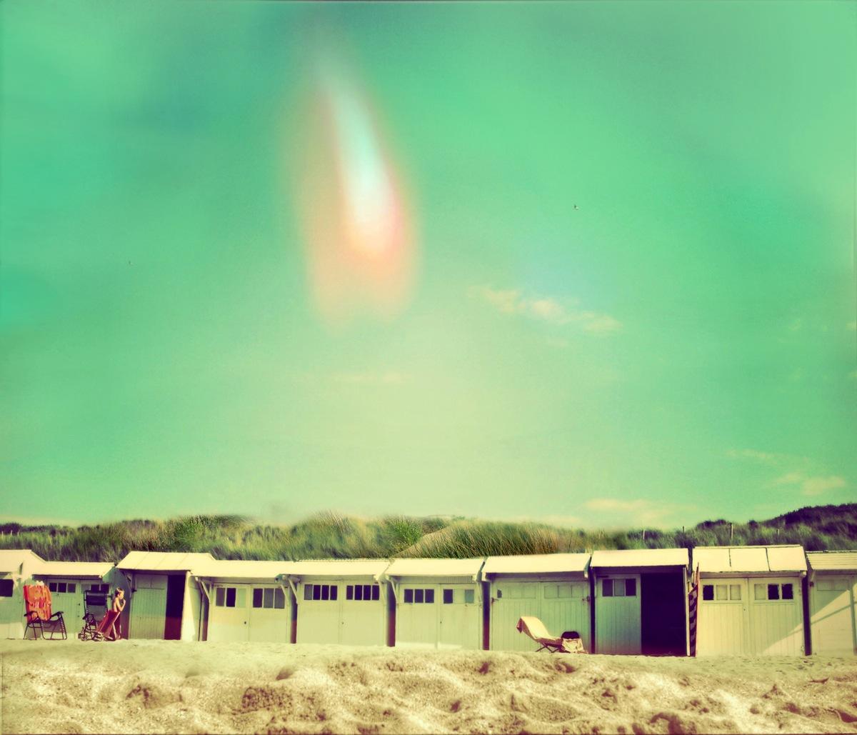 Les cabines de plage au printemps