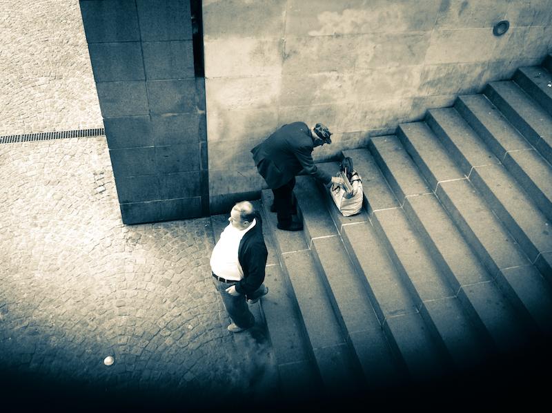 L'Homme des escaliers-Beaubourg