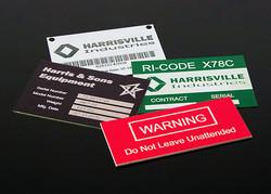 ID Tags & Equipment Panels