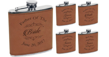 Brown Leather Flasks