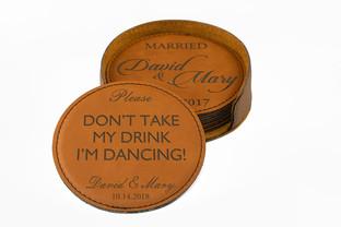 Fun Wedding Day Coasters