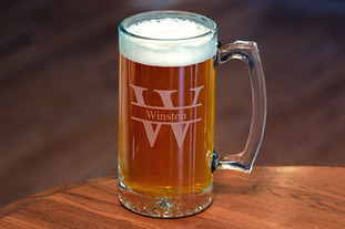 Sand Etched Beer Mugs