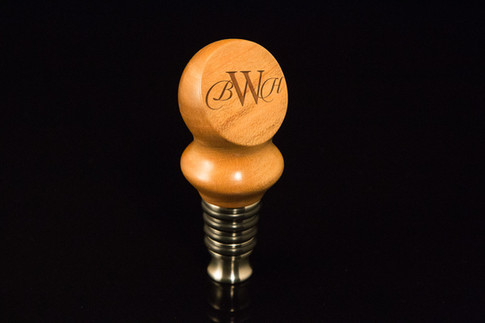 Single Bead Bottle Stopper - Monogram