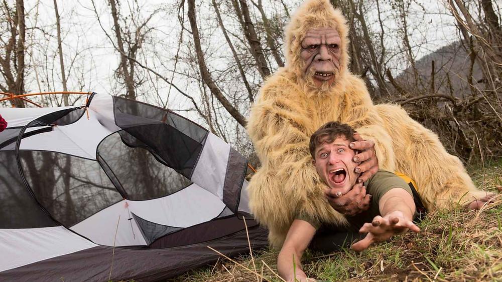 Bigfoot Attacking a camper