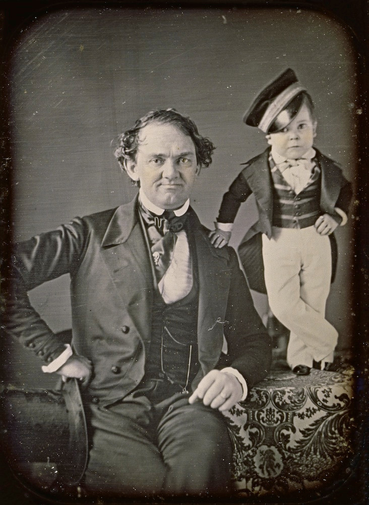 PT Barnum and General Tom Thumb the Two Foot Tall Man