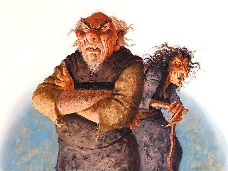 Leppalúði father of the Yule Lads and Gryla Mother of the Yule Lads