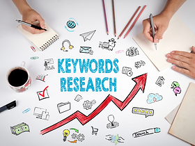 Keyword Research Stock Photo