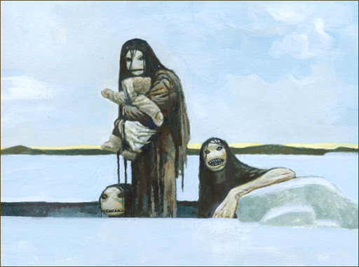 Qallupilluk, Inuit mythological marine creature that steals children
