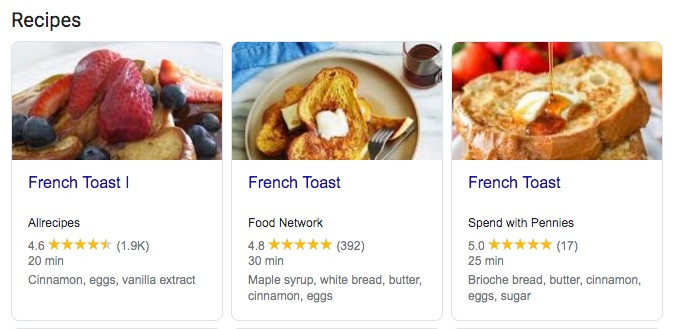 French Toast Recipe example