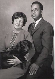 An image of Betty and Barney Hill and their dog