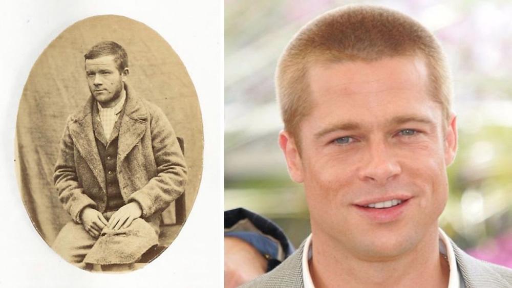 Brad Pitt and Brad Pitt Civil War Look Alike
