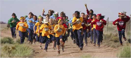Kid Nation Kids Running