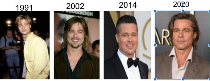 A Time Line of Brad Pitt Not Aging