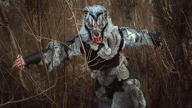 Banner photo of a Werewolf running through the woods