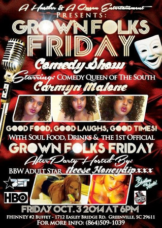 Neese Honey Dip Appearing at the Grownfolks Comedy Show