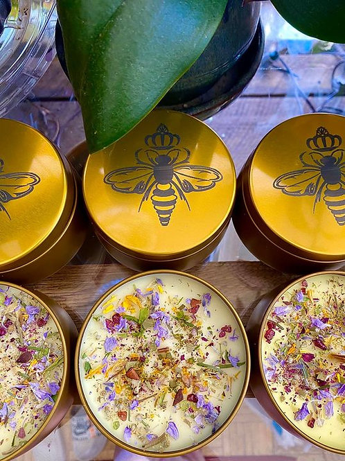 """8oz. """"Just Bee"""" Beeswax Candles"""