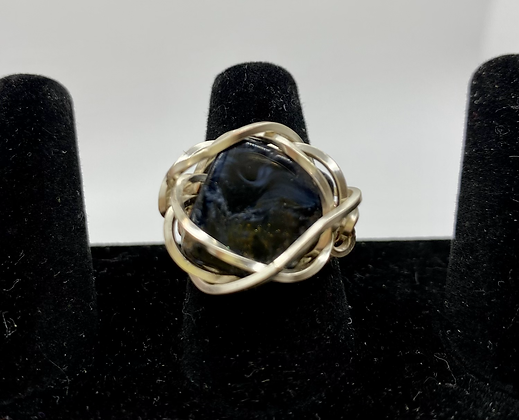Kyanite silver wire ring