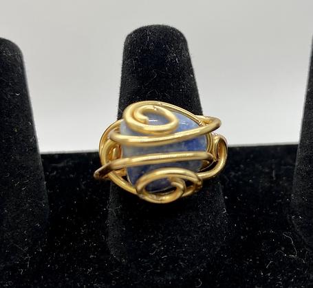 Kyanite copper ring