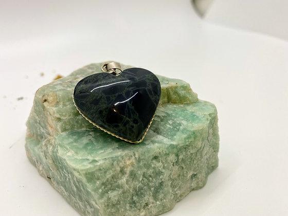 Spider web Obsidian heart shape