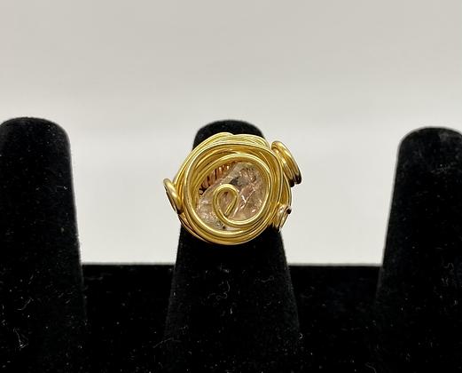 Herkimer Diamond copper ring