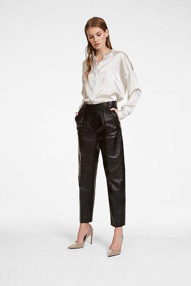 iHeart-black-leather-pant-stripe-blouse-