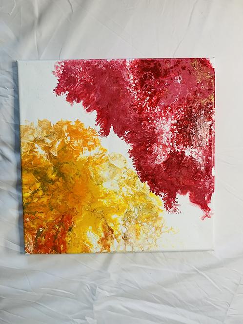 2 Acrylic Colors on Canvas