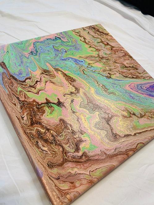 4 Acrylic Colors on Canvas