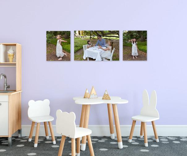 Playroom wall gallery