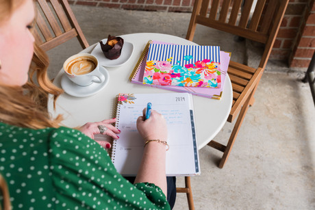 Woman with daily planner