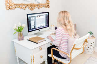 Web designer in home office