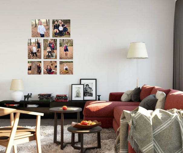 family room wall gallery