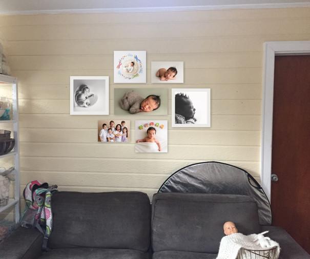 Photo studio wall gallery