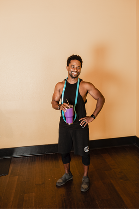 black fitness trainer