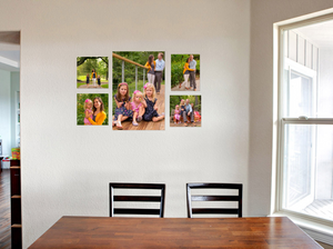 canvas wrap photo gallery in kitchen by meagan stone photographer and gallery designer
