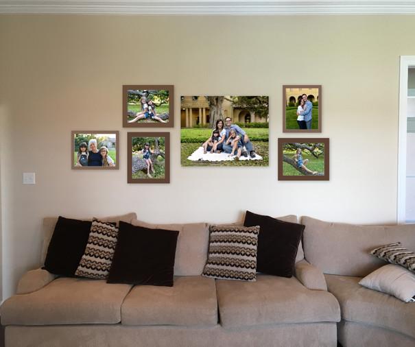 Family photo wall gallery
