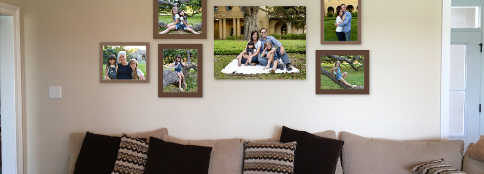 Family photo wall gallery