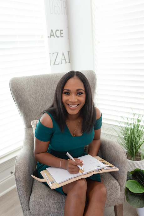 black woman with calendar