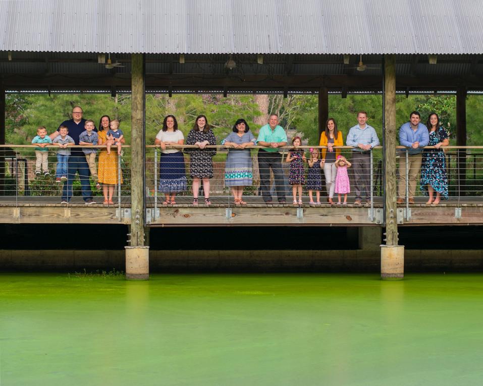 meagan stone photography, family photographer, LSU Hilltop arboretum, pond