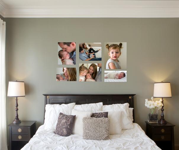 bedroom wall gallery