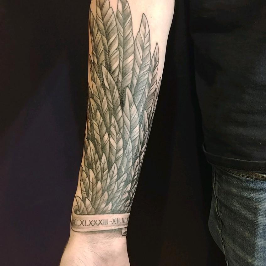 Forearm Memorial Tattoo