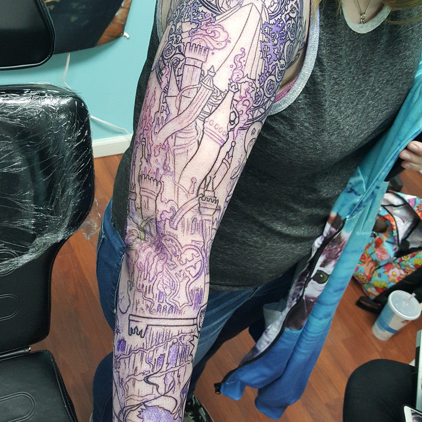 Kingdom Hearts Sleeve In Progress