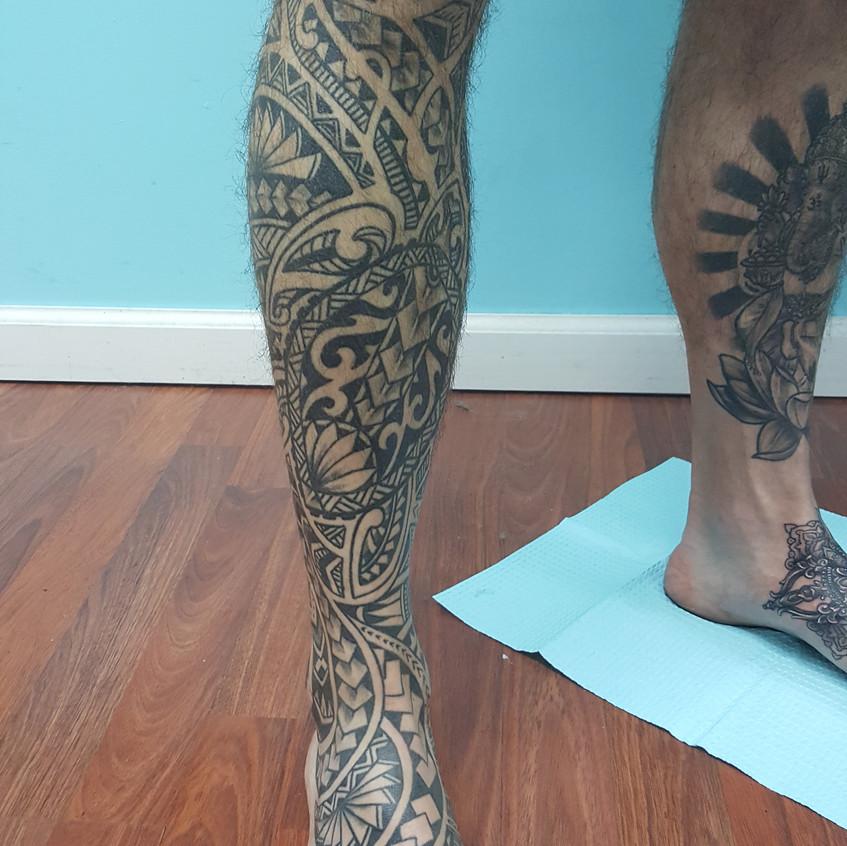 Drawn on Leg Sleeve