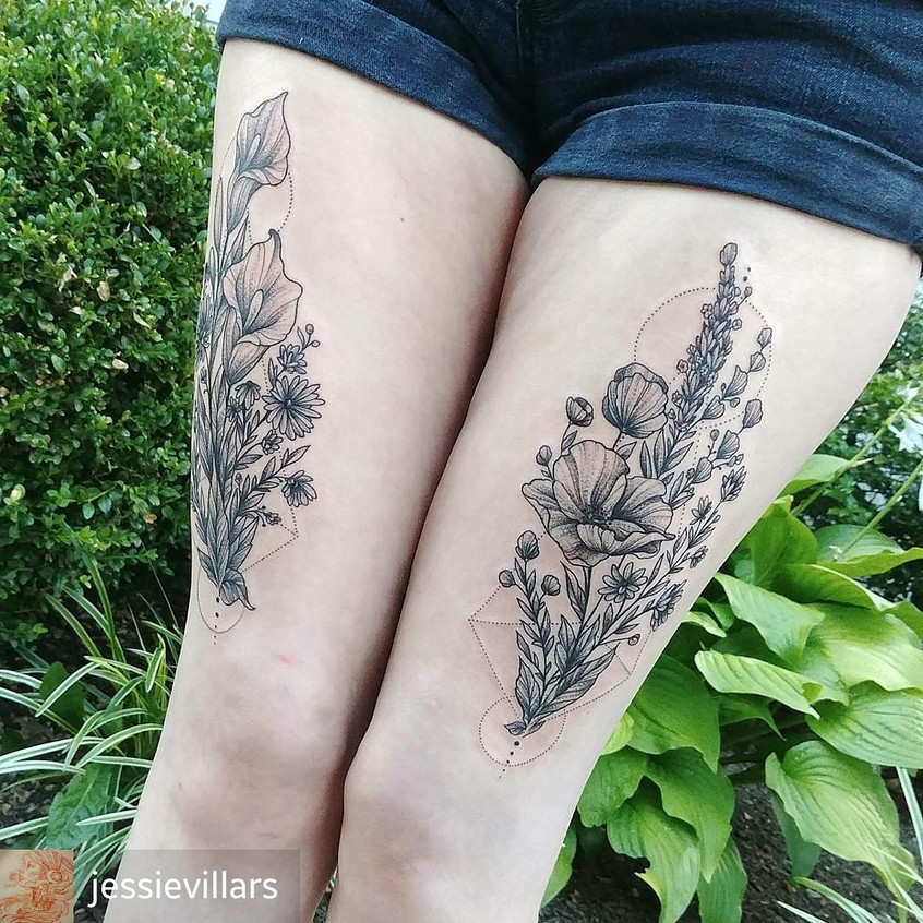 Floral Thigh Pieces